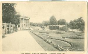 The Paseo, Sunken Garden, Kansas City, MO, 1920s used Pos...