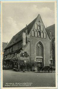 Germany - Nurnberg, Bratwurst Glocklein built in 1313 with Moritz Chapel   *RPPC