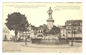 Place De La Republique, Statue Du General Chanzy, Le Mans (Sarthe), France, 1...