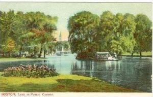 Boston, Massachusetts, PU-1908   Lake in public Garden