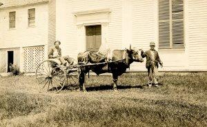 VT- Williamsville.1909 Parade, Universalist Church. P. Thayer Photog. *...