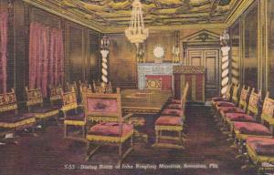 Florida Sarasota Dining Room Of John Ringling Mansion Curteich