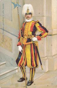 Swiss Guards, Guardia Svizzera Pontificia In Alta Tenuta, Italy, 1900-1910s