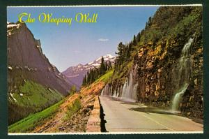 Weeping Wall on Going-To-The-Sun Road Glacier National Park Montana MT Postcard