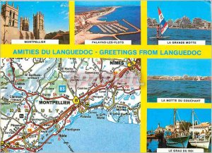 Postcard Modern Amities Languedoc Colors and Light of France Montpellier Pala...