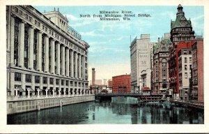 Wisconsin Milwaukee The Milwaukee River North From Michigan Street Bridge