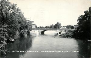 Independence Iowa~Highway Bridge~Power House> To Downtown? RPPC 1962