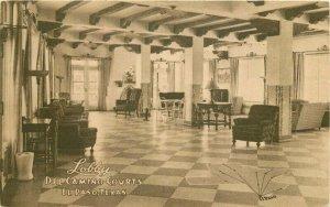 Associate Service Lobby El Paso Texas Del Camino Courts Postcard 20-2640