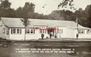 1942 THE BUDDIES' CLUB RECREATION CENTER FOR MEN OF ARMED FORCES, BOSTON COMMONS