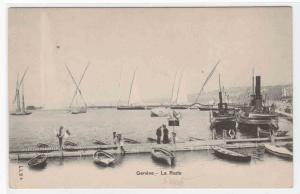 La Rade Boats Geneve Switzerland postcard