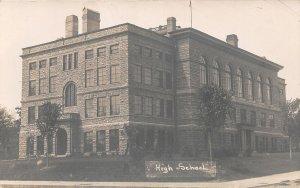 G12/ Sioux Falls South Dakota Postcard RPPC c1910 High School Building