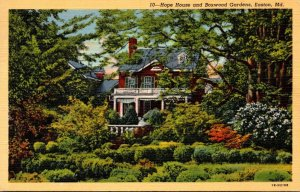 Maryland Easton Hope House and Boxwood Gardens 1945 Curteich