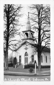 RPPC St. Edwards Church Lebanon, ON Ontario, Canada Postcard ca 1940s