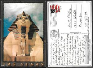 Nevada Las Vegas, Luxor Hotel Spinx, mailed.