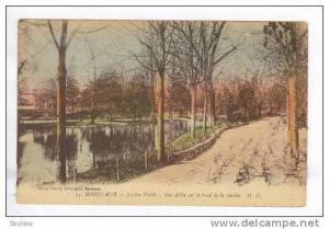 BORDEAUX, Jardin Public, Une Alee sur le bord de la riviere, Public Garden, 0...
