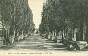 France, Arles, Les Aliscamps, Allee, des Tombeaux, early ...