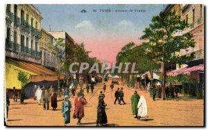 Old Postcard Tunisia Tunis Avenue de France