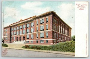 Brokton MA~High School~AMH @ 36 Columbia Street to Miss Electra Cobb~1908