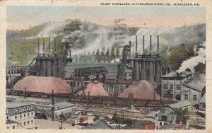 MONESSEN , Pennsylvania, 1924 ; Blast Furnances , Pittsburgh Steel Co.