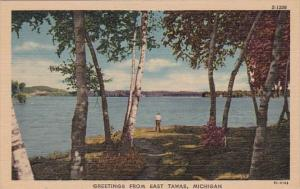 Michigan Greetings From East Tawas Curteich