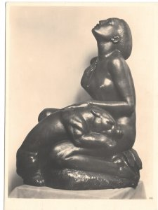 Sculpture Tropical Night Tropennacht Artist Josef Mullner Austria 4X6 Postcard