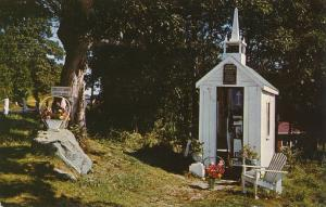 Smallest Church in the World - Wiscasset, Maine - pm 1964 - Roadside