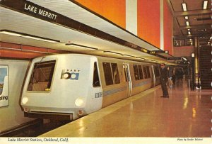 Bay Area Rapid Transit LAKE MERRITT STATION Oakland Continental Vintage Postcard