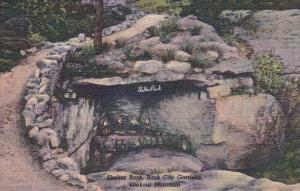 Tennessee Chattanooga Shelter Rock Rock City Gardens Lookout Mountain Curteich