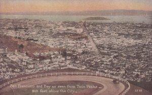 SAN FRANCISCO, California, 1900-1910s; Bay As Seen From Twin Peaks