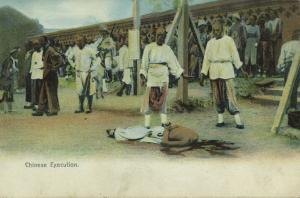 china, Native Chinese Execution, Beheading (1910s) Sternberg Hong Kong