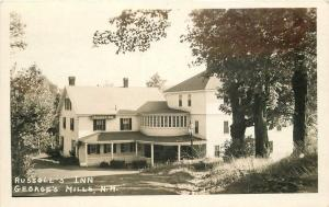 1950 George's Mill New Hampshire Russell's Inn RPPC real photo postcard 12293