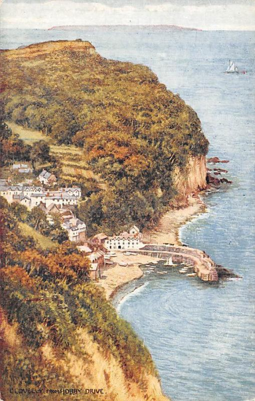 Clovelly from Horby Drive General view Boats Bateaux