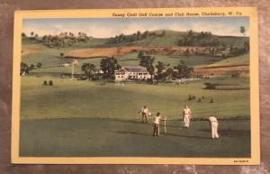 Sunny Croft Golf Course Clarksburg West Virginia Postcard