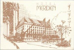 Hotel Meridien Boston MA Massachusetts c1985 Vintage Advertising Postcard C3