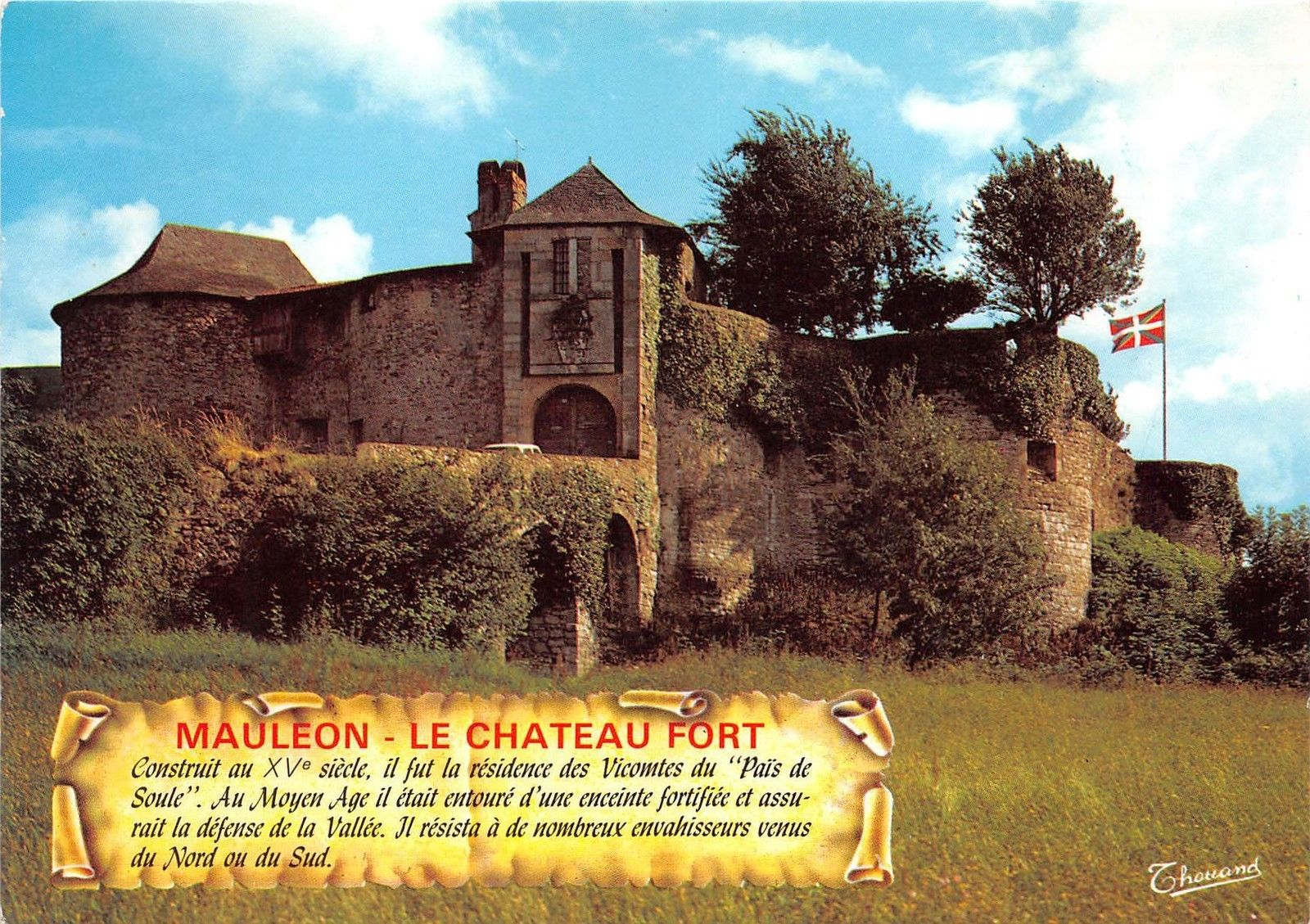 Architecte Paysagiste Pays Basque br8273 pays basque la soule mauleon le chateau fort france