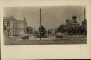 Lima Peru Paseo de Colon - Hispanic Society of American Series c1910 RPPC
