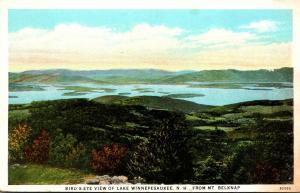 New Hampshire Lake Winnipesaukee Birds Eye View From Mt Belknap Curteich