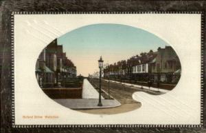 Waterloo England Painter's Palette Border c1910 Postcard OXFORD DRIVE