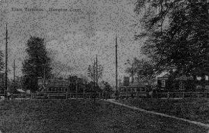 Hampton Court Tram Terminus Postcard
