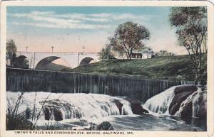 Gwynn's Falls and Edmonson Avenue, Baltimore, Maryland, PU-1917