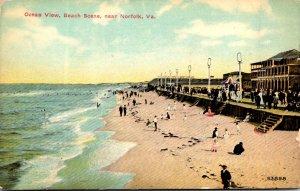 Virginia Norfolk Ocean View Beach Scene