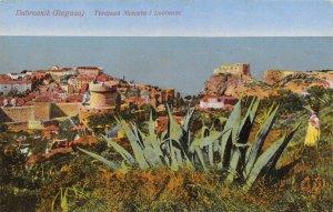 Vintage 1920s Postcard, Dubrovnik, Croatia,  Turkey minčeta and laurel ER0