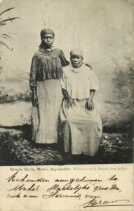 seychelles, MAHÉ, Creole Girls, Head Transport (1905) Postcard