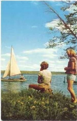 Sailboats, Michigan Water Wonderland, Michigan, PU-1955