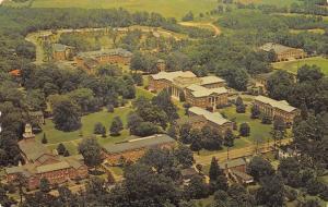 Davidson North Carolina~Presbyterian College Campus~Aerial View~1960s Postcard