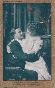 Spooner Delight, Woman sitting on man's lap, Rhyme, PU-1909