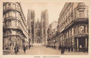 Eglise Et Rue Ste-Gudule, Bruxelles, Belgium, 1910-1920s