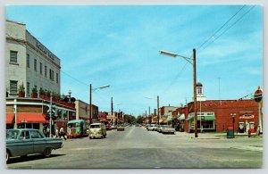 East Tawas MI~Newman Street~Bakery~Standard Gas Station~Volkswagen Van~1960s Car