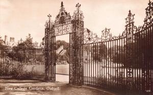 Vintage Sepia Postcard OXFORD New College Gardens by Penrose & Palmer No.123