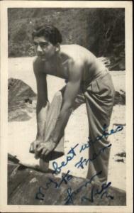 Burning Palms South of Sydney Australia 1938 Man on Beach - Famous? VIC